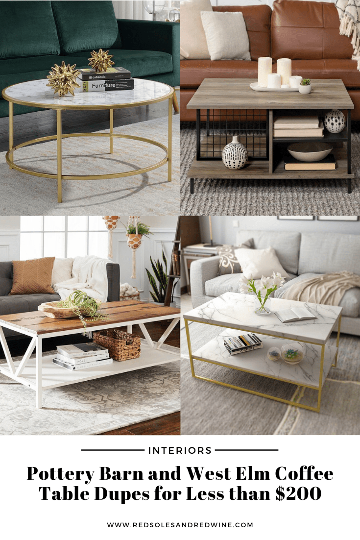 pottery barn and west elm coffee table