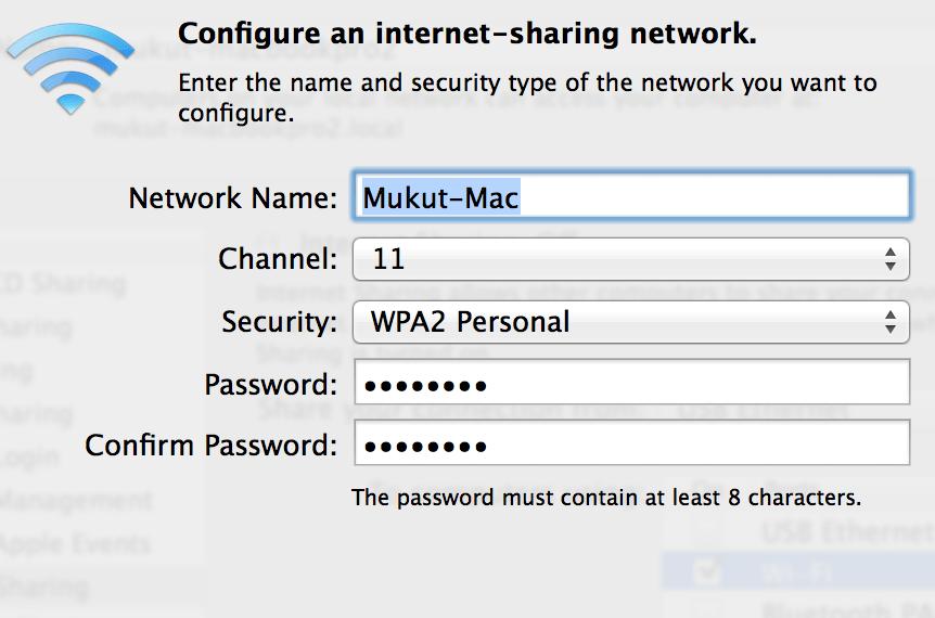 How To Setup Mac As A Wifi Hotspot?