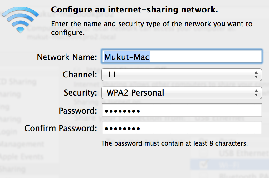 How to Setup Mac As A Wifi Hotspot