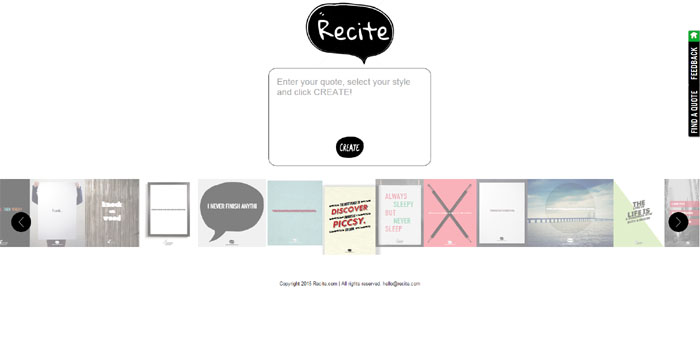 Recite This is an amazing tool that makes creating visual quotes insanely simple