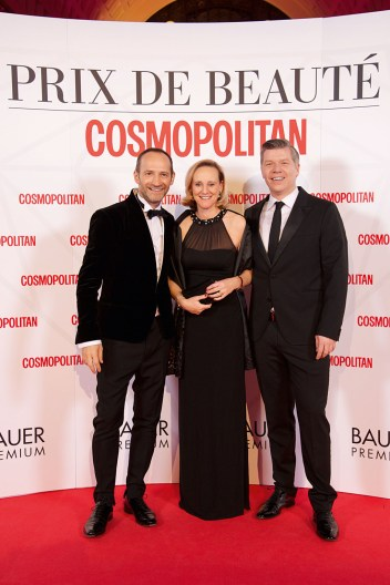 Stefan Raab (Bauer Premium), Katrin Nitz (Innéov), Andreas Neef (L'Oréal). Foto: Christian Rudnik