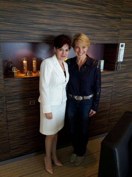 Susanne Stoll mit Wissenschaftlerin Lavinia Popescu aus New York