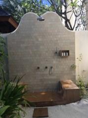 Auch die Dusche in der Beach Villa ist ein Erlebnis