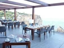 Fantastische Aussicht hat man auch vom Restaurant des Hotel Tivoliaus ...