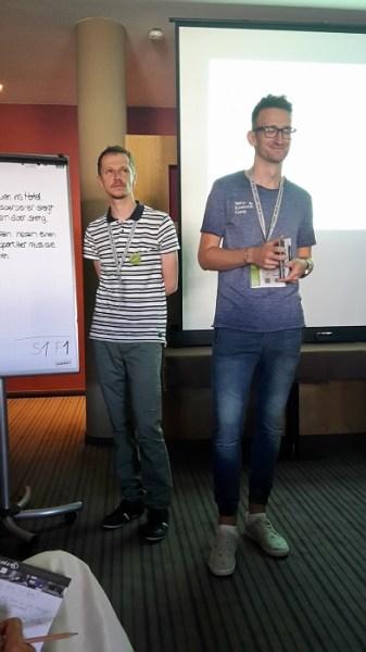 Wolfgang Falkner und Henrik Schuster bei ihrer Session