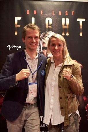 SpaCamp-Veranstalter Wolfgang Falkner mit Keynote Nicole Trimmel