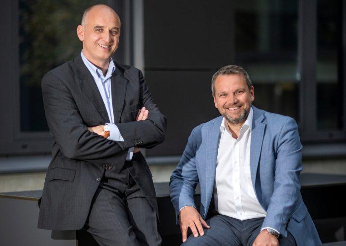 Die Geschäftsführer der NOBILIS GROUP GmbH, ein deutsches Vertriebsunternehmen für Duft- und Parfummarken, Udo Heuser (CEO) und Dr. Joachim Henseler (CFO). Foto: Fredrik von Erichsen/NOBILIS GROUP/STERN GMBH