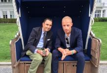 Martin Suter und Benjamin von Stuckrad-Barre (rechts). Foto: Grand Hotel Heiligendamm