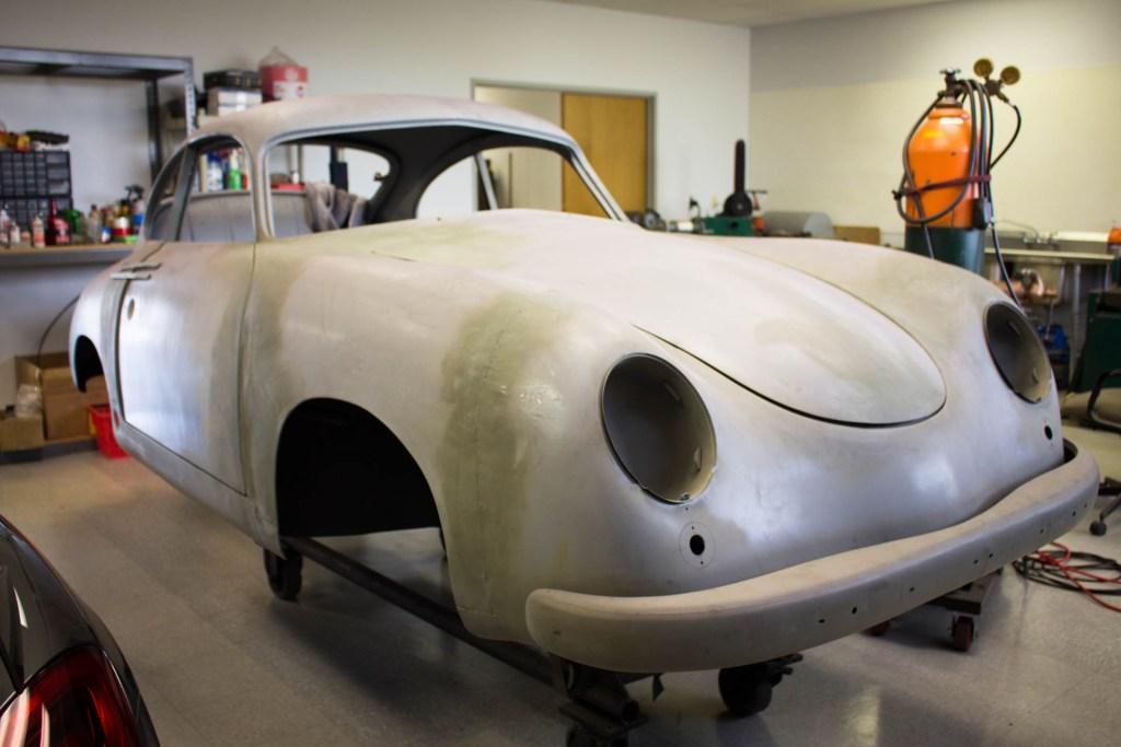 vintage 1953 porsche 356 body restoration