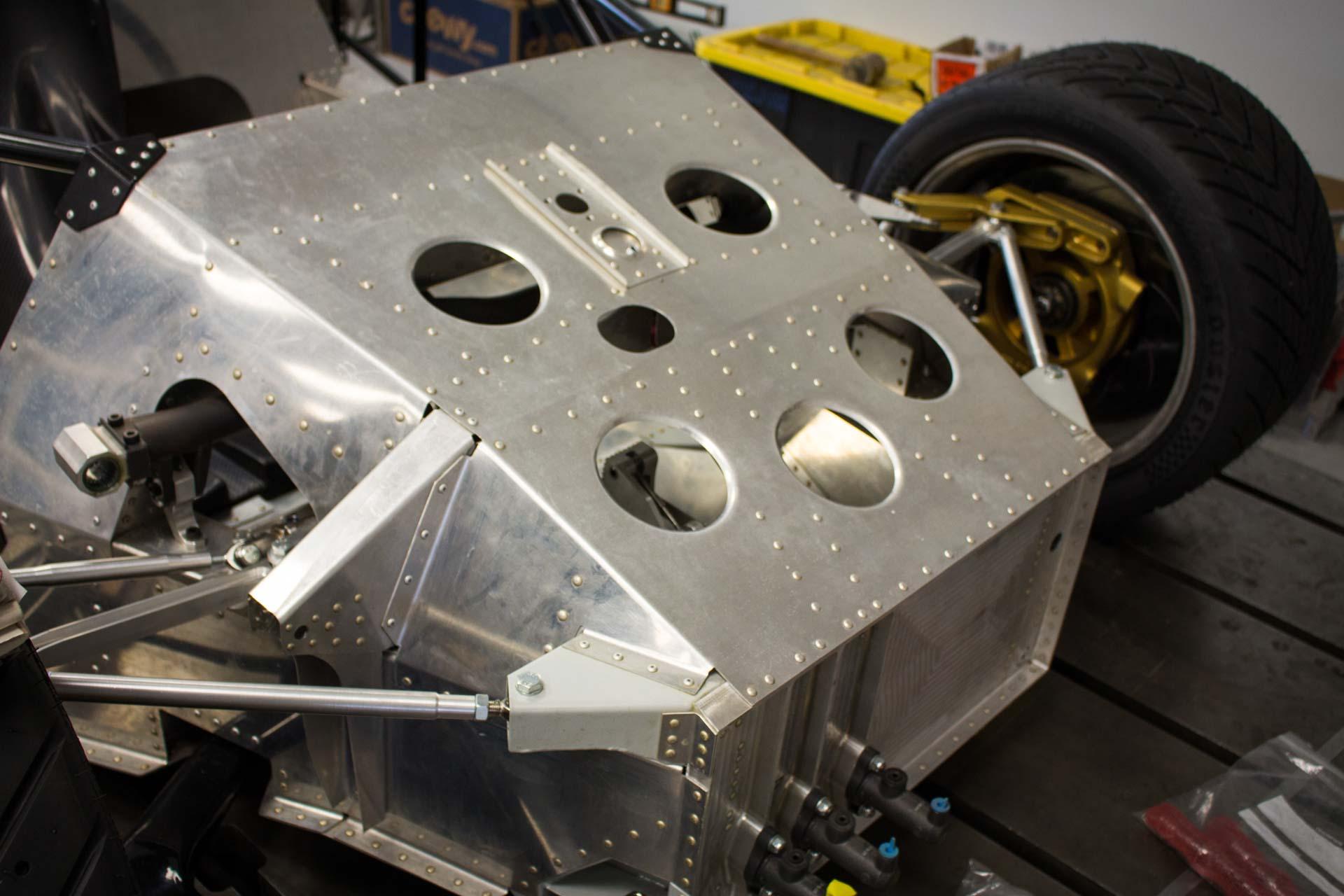 porsche 962 race car monocoque chassis project