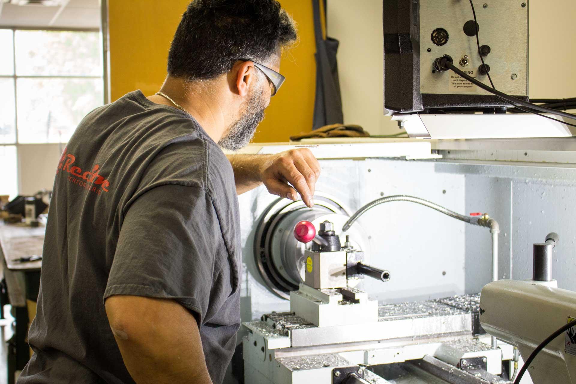 redstone machine shop lathe