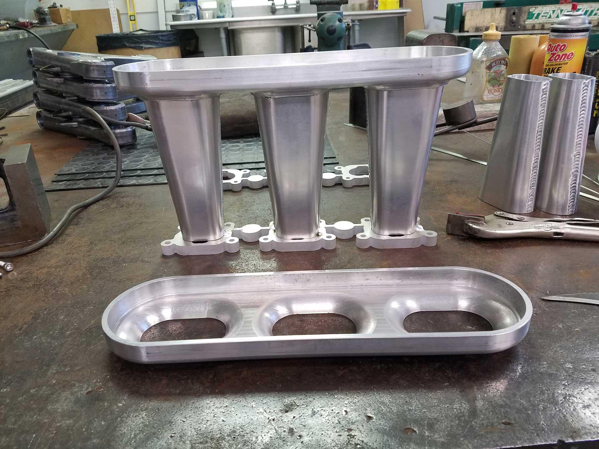 redstone-porsche-962-lower-intake-manifold-plenum-fabrication