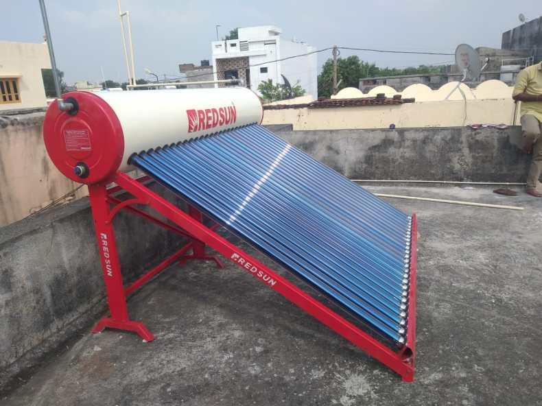 Redsun Solar Water Heater Side View