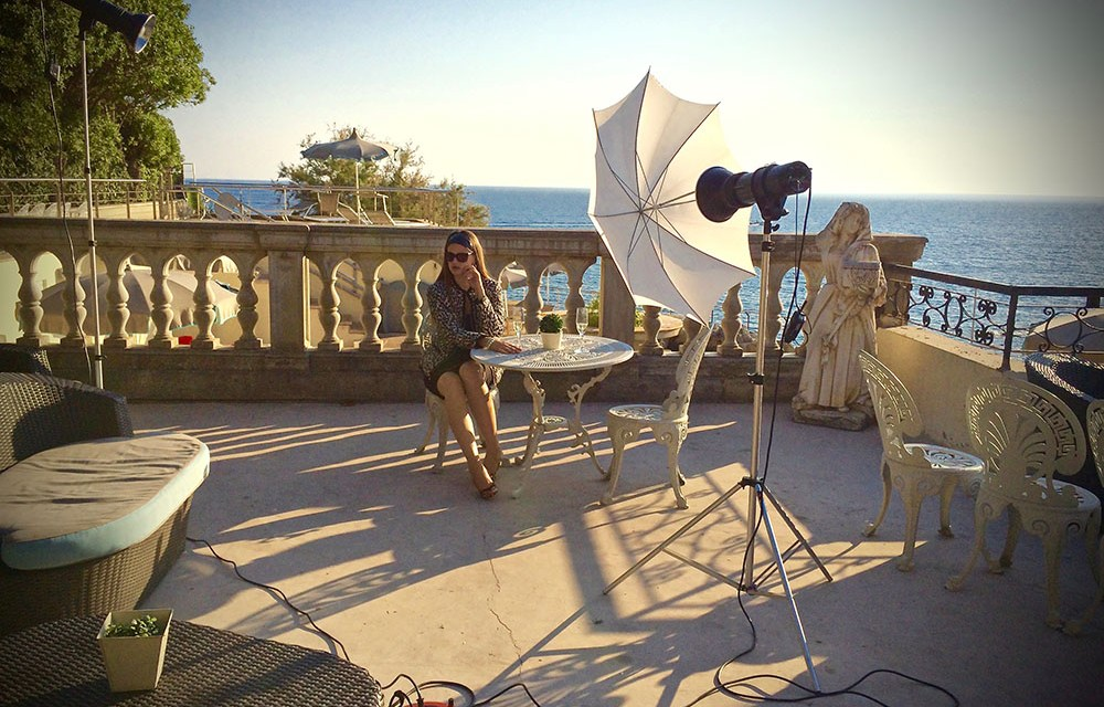 Fashion shooting…making of
