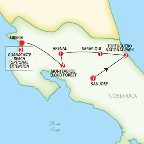 Costa Rica Eco Adventure Trafalgar Escorted Tours Red