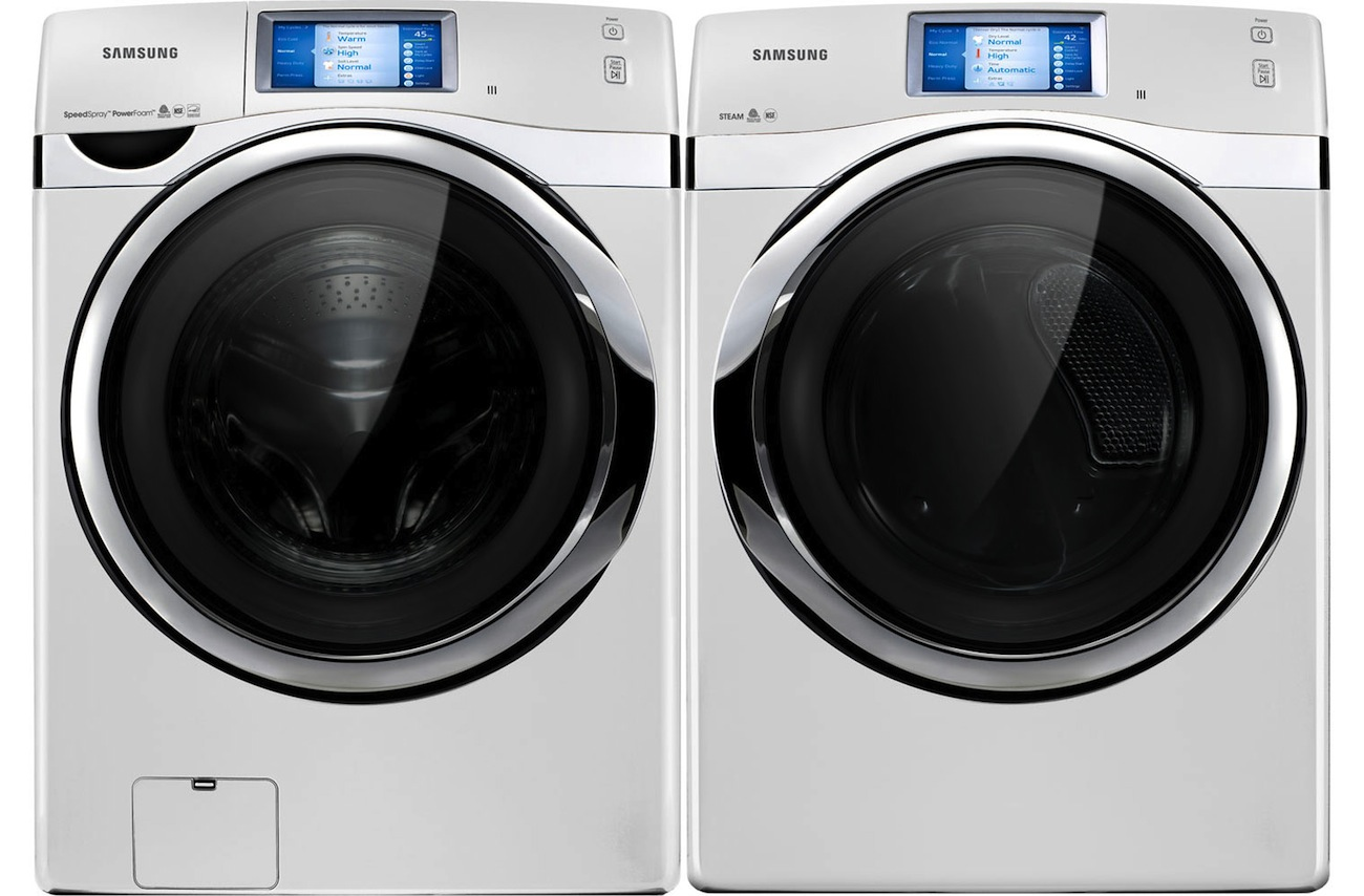 New Samsung White Steam Touch Screen Front Load Washer