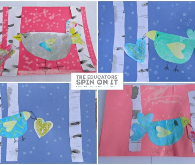 Winter Bird Heart Cards From The Educators Spin On It