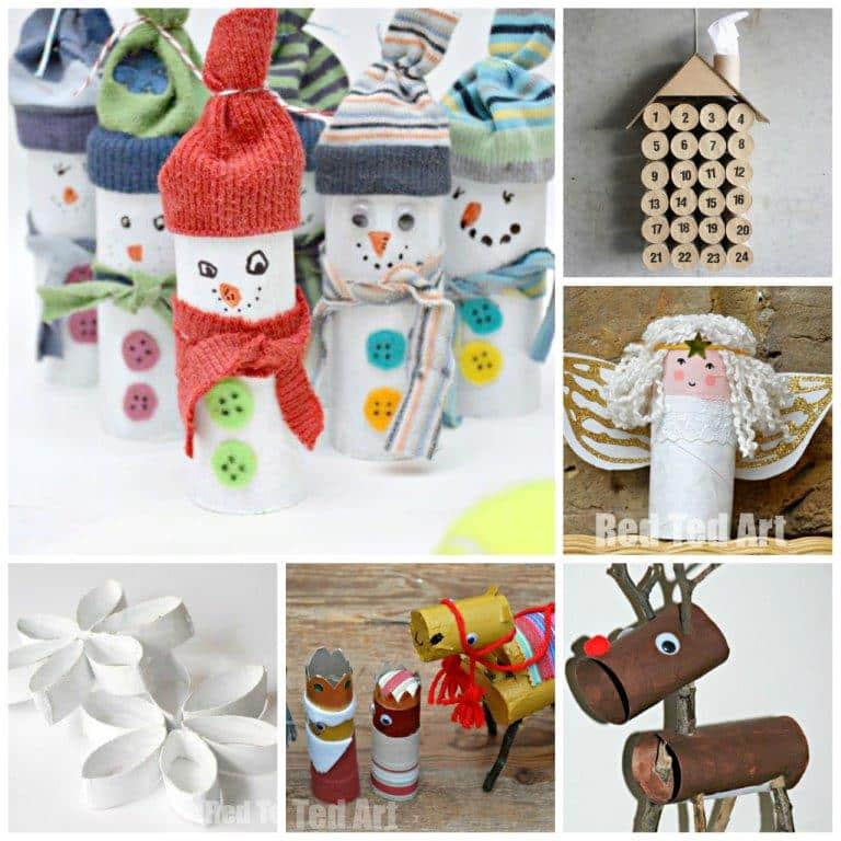 12 Toilet Paper Roll Christmas Crafts Red Ted Arts Blog