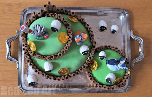 Skylanders Birthday Party Cake Red Ted Art Make Crafting With Kids Easy Fun