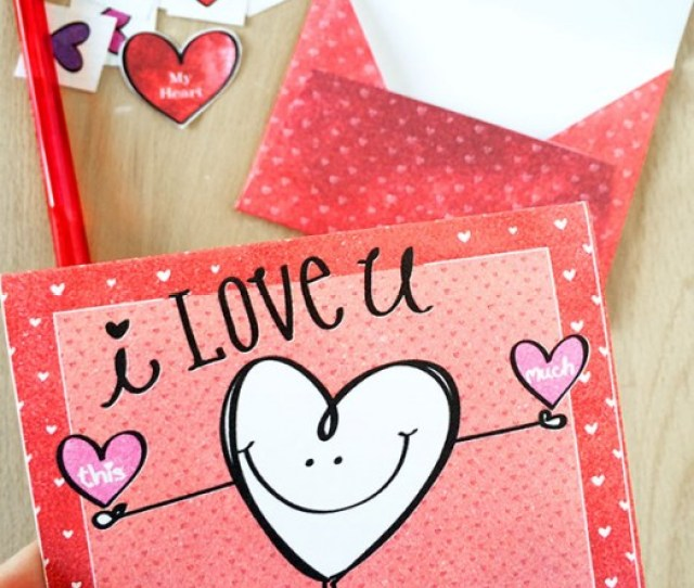 We Love Free Printables All Year Round I Love You Heart Card Jen Goode Red