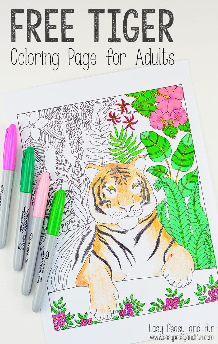 Free printable tiger coloring page adults red ted, love mandala coloring pages