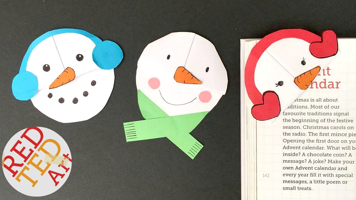 Snowman Bookmark Yt Red Ted Arts Blog