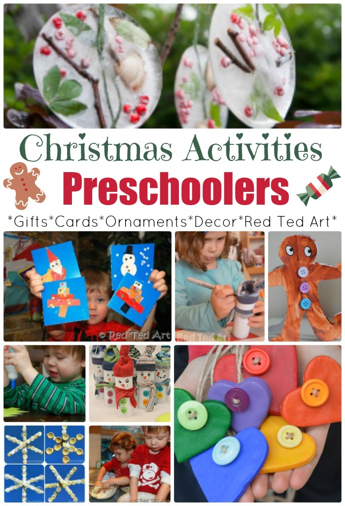 Christmas Crafts For Preschoolers Red Ted Arts Blog