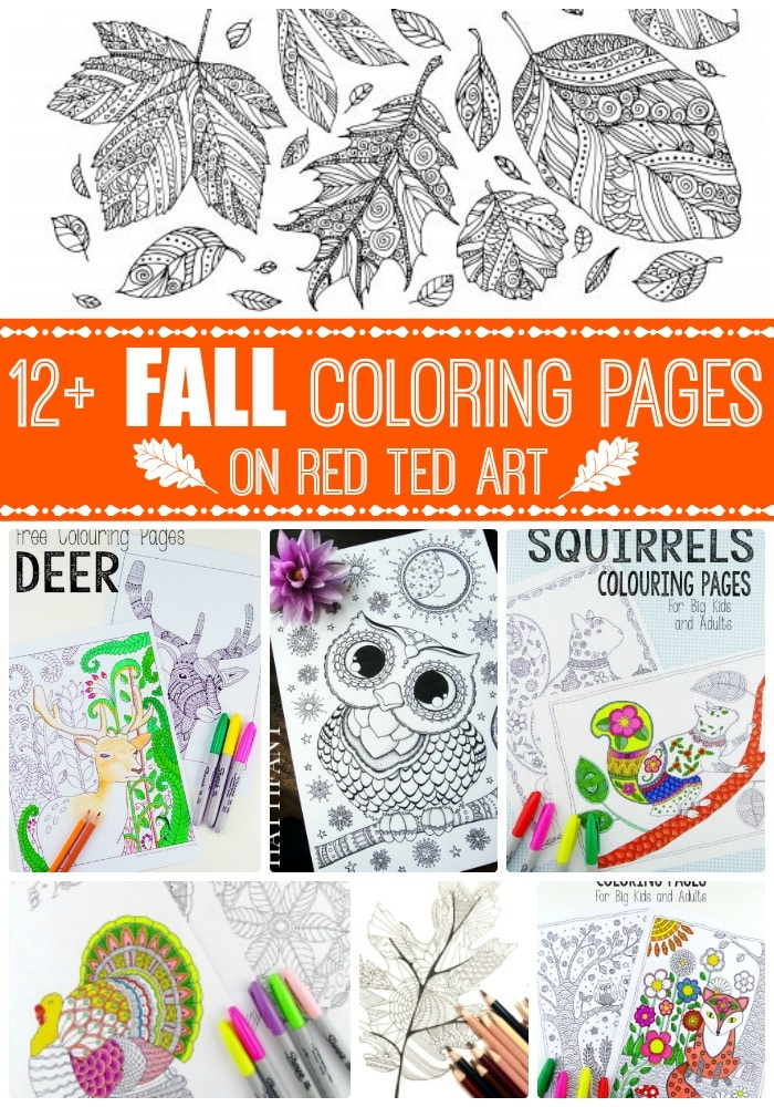 Free Printable Adult Coloring Pages For Fall Red Ted Art Make Crafting With Kids Easy Fun