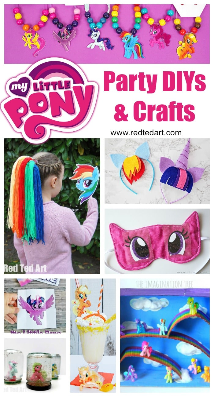 My Little Pony Party Ideas Crafts Red Ted Art
