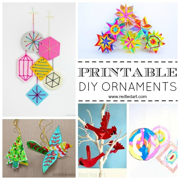 Paper Christmas Ornament Diy Ideas Red Ted Art Make Crafting With Kids Easy Fun