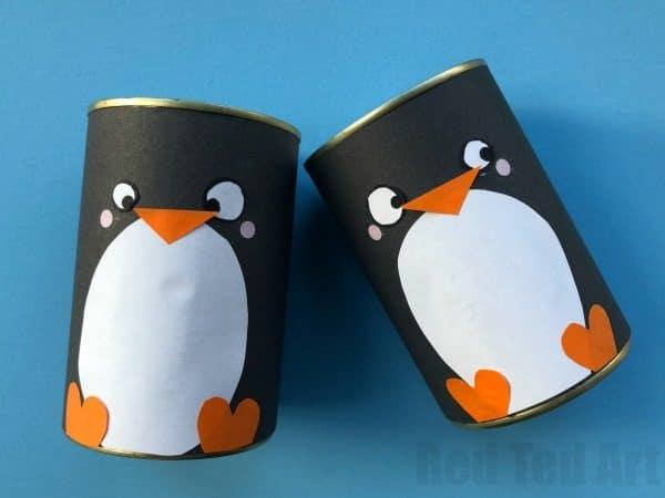 DIY Penguin Pencil Holder Red Ted Arts Blog