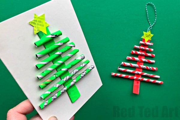 Newspaper Christmas Tree Ornaments Diy Gorgeous Little Straw And