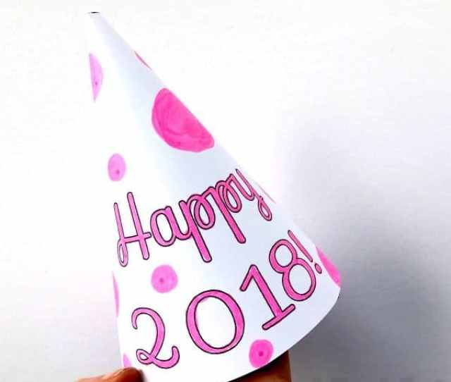 New Years Eve Party Hat Printables Use The Templates To Decorate Your Own Or Choose