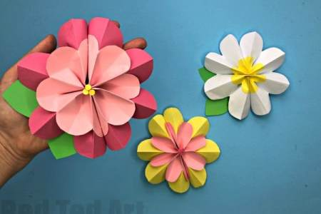 Easy flower making from paper flowers online 2018 flowers online to make paper flowers easy for origami kusudam flower how to make paper flowers easy for beginners easy paper craft how to make paper flowers youtube mightylinksfo