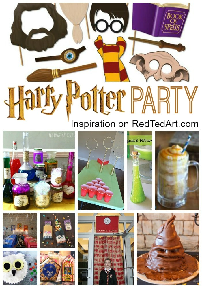 harry potter party ideas red ted art