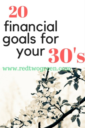 financial goals for your 30s