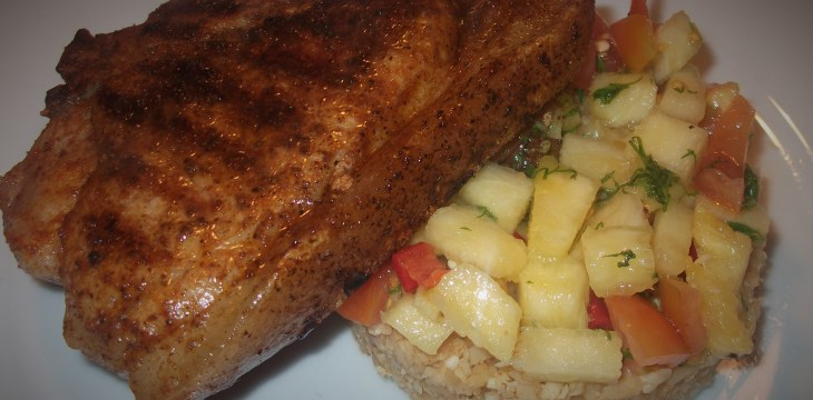Cajun Pork with Pineapple Salsa £1.60 each !