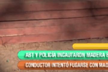 ABT Y POLICÍA INCAUTARON MADERA EN CULPINA