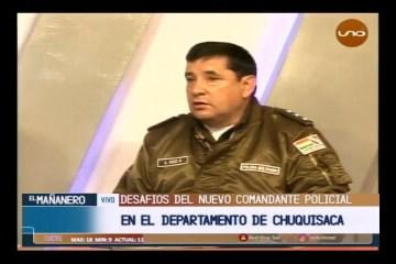 CORONEL ALEX RÍOS ES EL NUEVO COMANDANTE DEL DEPARTAMENTO DE CHUQUISACA