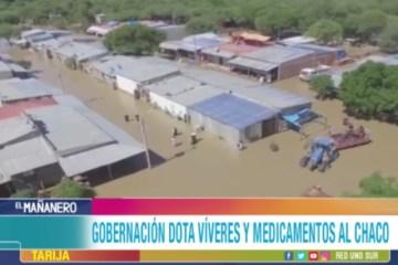 LA GOBERNACIÓN DE TARIJA DOTA VÍVERES Y MEDICAMENTOS AL CHACO