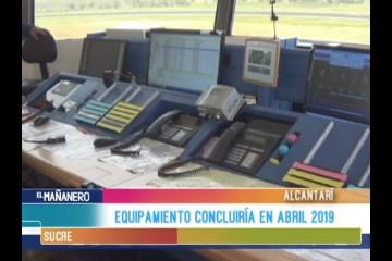 EL EQUIPAMIENTO DEL AEROPUERTO DE ALCANTARÍ CONCLUIRÍA EN ABRIL