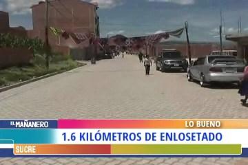 LO BUENO: ENTREGA DE 1.6 KILÓMETROS DE ENLOSETADO