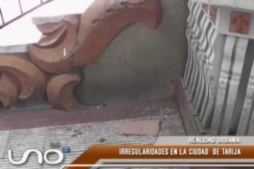 REALIDAD URBANA: IRREGULARIDADES EN LA CIUDAD DE TARIJA