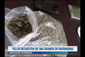 FELCN SECUESTRA 306 GRAMOS DE MARIHUANA