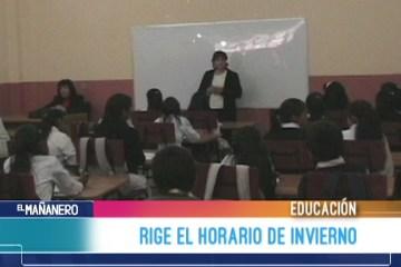 RIGE HORARIO DE INVIERNO EN EL DEPARTAMENTO DE CHUQUISACA