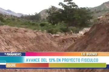 LO BUENO: FISCULCO  CON UN AVANCE DEL 13 %