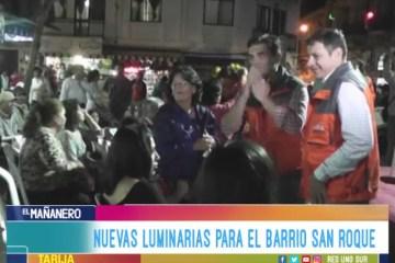 NUEVAS LUMINARIAS PARA EL BARRIO SAN ROQUE