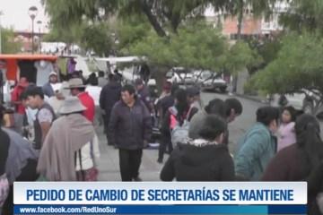 PEDIDO DE CAMBIO DE SECRETARÍAS SE MANTIENE