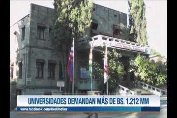 LAS UNIVERSIDADES DEMANDAN AL GOBIERNO MÁS DE BS. 1.212 MM