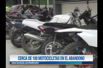CERCA DE 100 MOTOCICLETAS EN ABANDONO